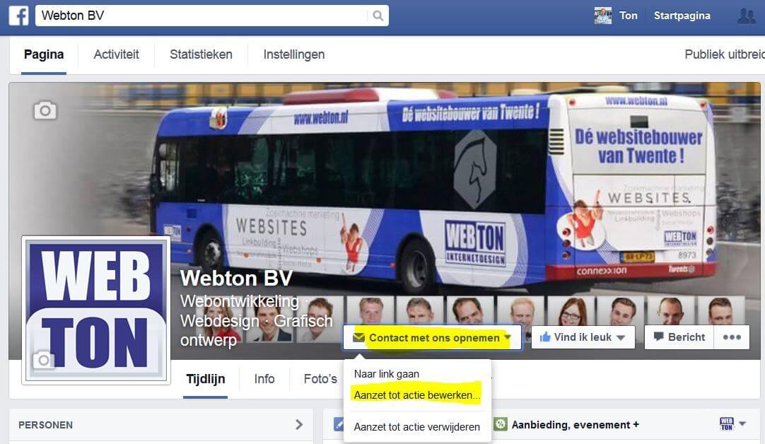 facebook aanzet tot actie