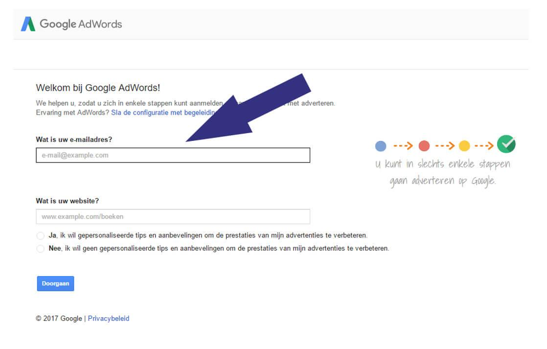 Google Adwords e-mailadres