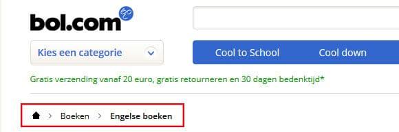 bol.com breadcrumb