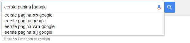 bovenaan in google komen