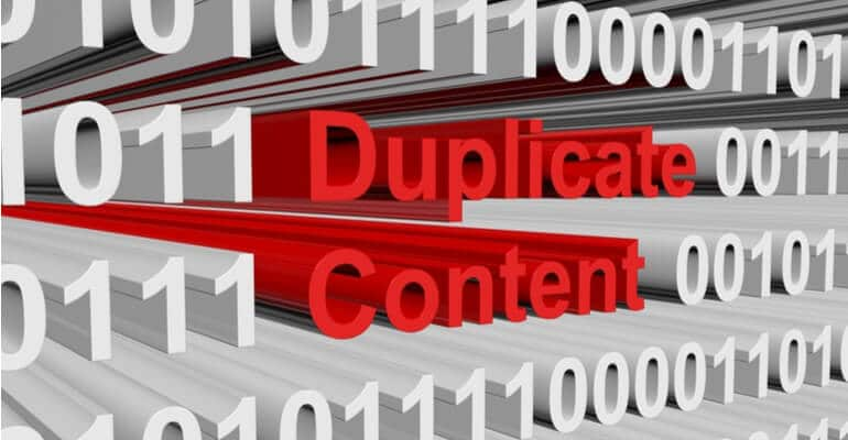 Duplicate content toxic backlinks