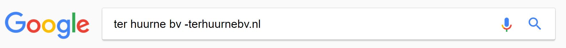 google bedrijfsnaam zoeken