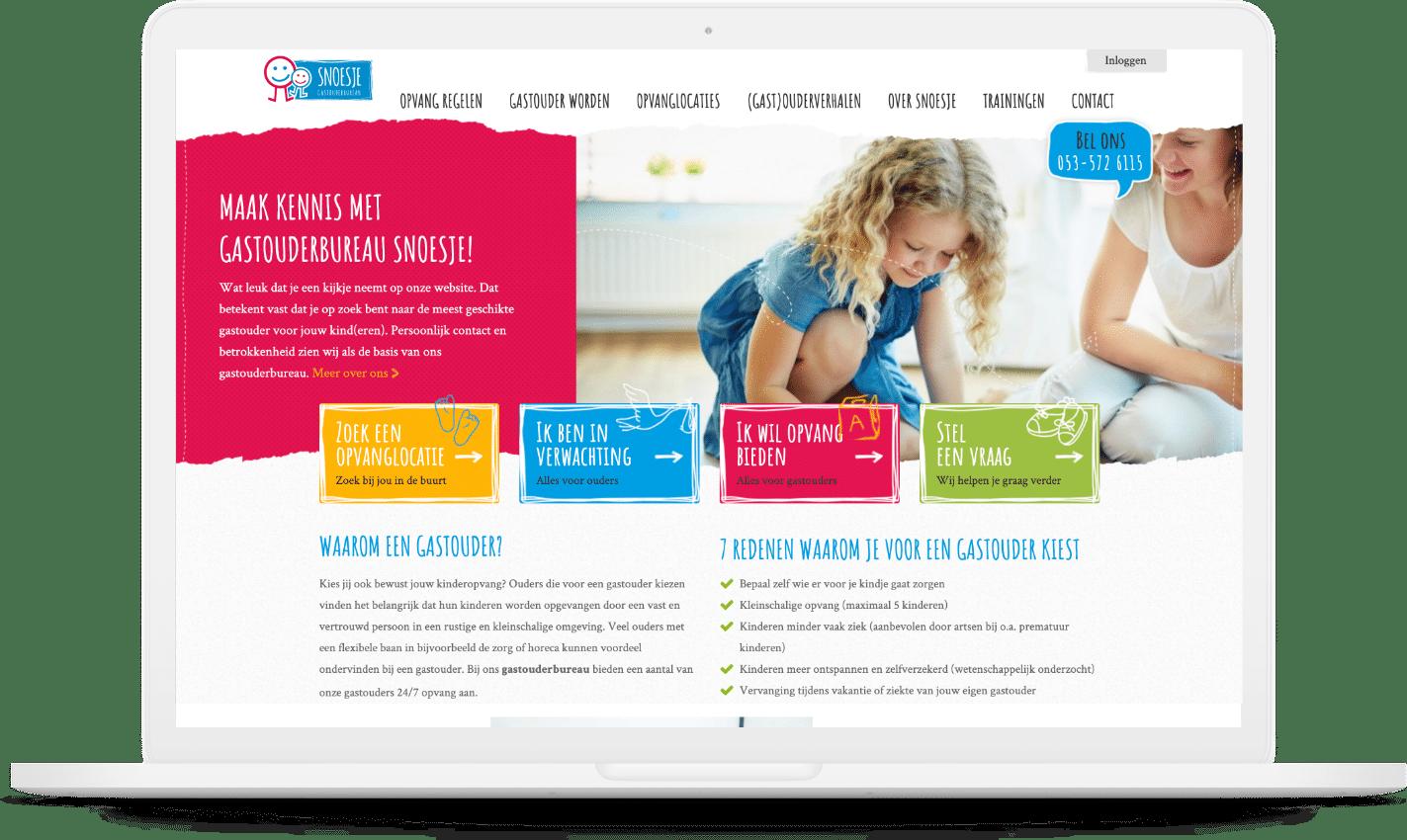 Website Gastouderbureau Snoesje
