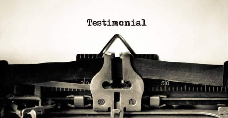 Wat is een testimonial